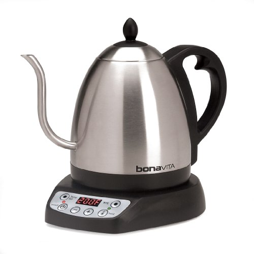 Bonavita 1-Liter Variable Temperature Digital Electric Gooseneck Kettle