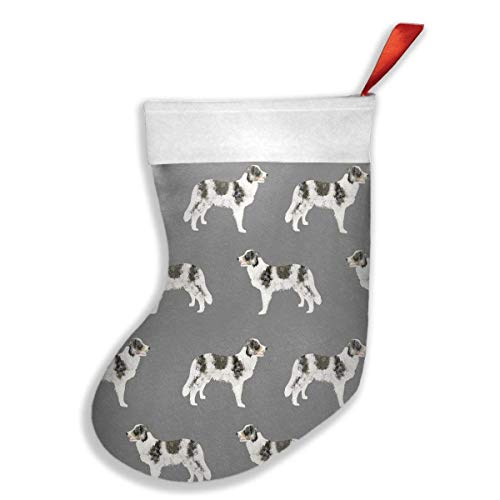 shower curtain liner Border Collie Blue Merle Dogs Xmas Christmas Stockings Xmas Party Mantel Decorations Ornaments Decoration Kids Gift Holding Stocking Tree Ornament (Collie Ornament Angel Dog)
