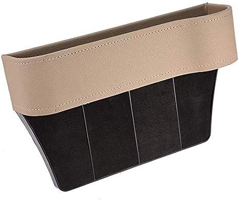 Beige-Links Sarah Duke Auto-Sitz Gap Storage Box PU-Leder-Side Pocket-Organizer Mit M/ünzfach Becherhalter Hilft Abgelenkt Driving /& Verkleinerung H/ält Telefon Geldkarten Keys Fern