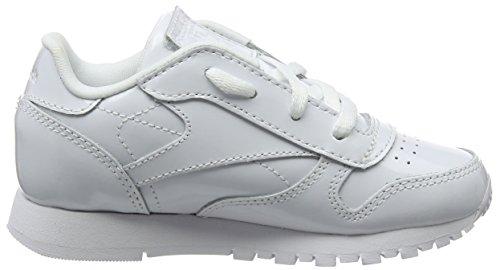 Reebok Mädchen Classic Leather Patent Gymnastikschuhe Weiß (White)