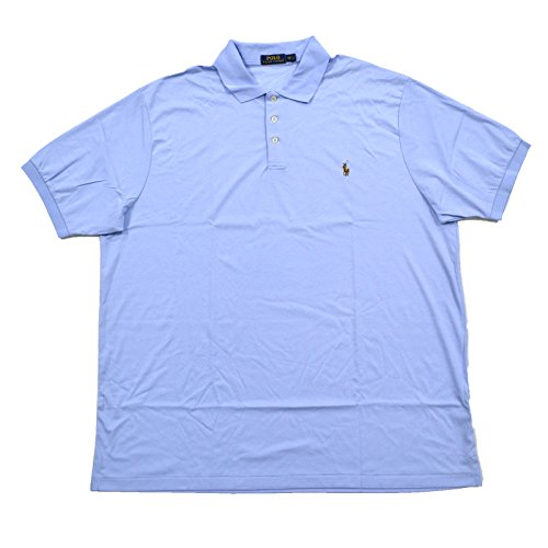 Pima Cotton Polo Shirt (Polo Ralph Lauren Men's Big and Tall Short Sleeve Pima Soft-Touch Polo Shirt (3XB, Elite Blue))