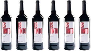 ESTINTO | 6 botellas x 750 ml | Vino Tinto l Hecho en España: Amazon.es: Alimentación y bebidas