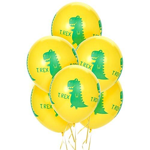 BirthdayExpress T-Rex Dinosaur Party Supplies - Latex Balloons (6)