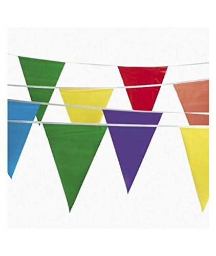 100ft Multi Colored 48 Flags Banner Pennant Parade Festival Carnival Decorations