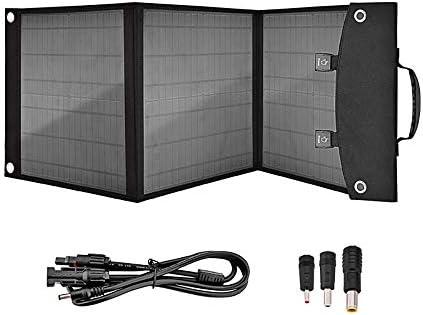 WXJHA 50W Cargador Solar Plegable de Dispositivos USB Solar al Aire Libre Plegable portátil Panel Kit Cargador de batería de 12V 18W para Acampar/Concentraciones Caravana/Autocaravana/Ferias: Amazon.es: Hogar