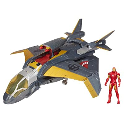 Quinjet Attack Vehicle With Iron Man from Avengers