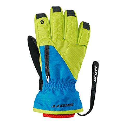 Scott 2016/17 JR Ultimate Premium Glove - 244484 (Lime Green/Cyan Blue - XL) (Scott Gloves Ski)