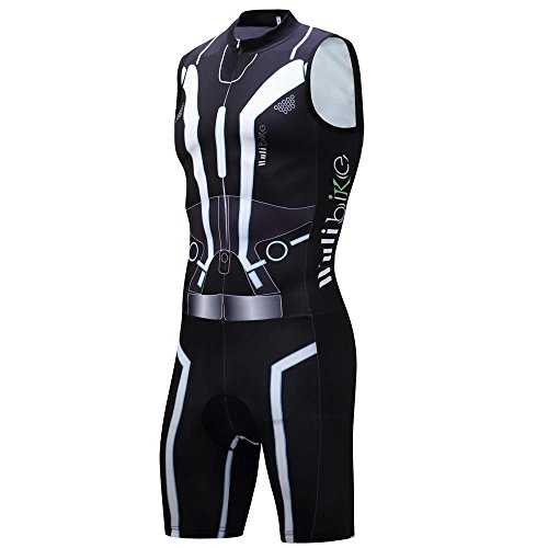 Lo.gas Men's Tron Jersey Cycling Sleeveless Triathlon Trisuit Breathable Quick-Dry -