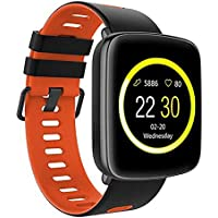Kingwear GV68 IP68 Waterproof Swim Call Heart Rate Monitor Smart Watch for IOS and Android - Red