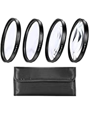 67mm Close-Up Filter Set (+1, 2, 4 and +10 Diopters) Magnification Kit for Nikon CoolPix P900, P950 Digital Camera