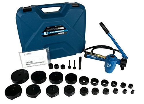 "TEMCo TH0037 4"" HYDRAULIC KNOCKOUT PUNCH Electrical Conduit Hole Cutter Set KO Tool Kit 5 Year Warranty"