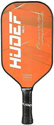 HUDEF Pickleball Paddle Graphite Carbon Fiber Face Racket PP Honeycomb Core Elongated Pickleball Racquet USAPA