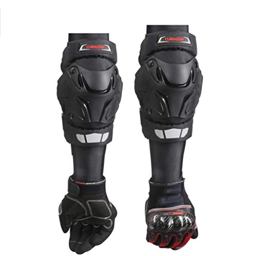 DUBAOBAO Motorcycle Knee Elbow/Excluding Gloves, Off-Road Bicycle Motorcycle Knee Protector, Leg Guard Protective Equipment,