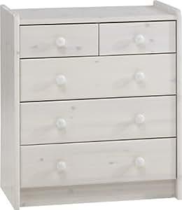 Steens 29001313 - Cómoda de pino, color blanco