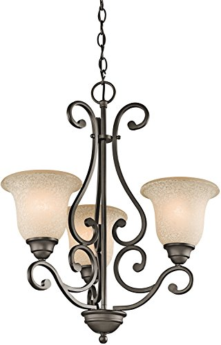 Kichler 43223OZ Transitional Three Light Chandelier from Camerena Collection in Bronze/Dark Finish, 3, ()