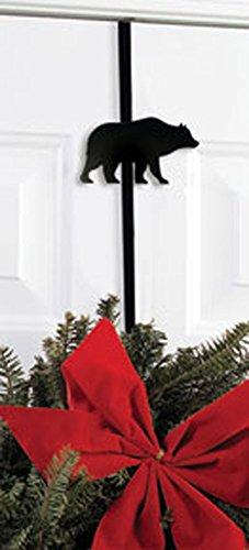 Wrought Iron Bear Christmas Wreath Door