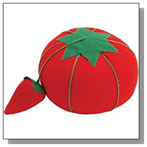 Dritz NR-356 Tomato Pin Cushion, 1-Pack, W/Strawberry