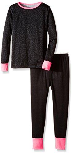 ttle Girls' Girls Performance Thermal Underwear Set, Leopard Print, 4/5 (Little Girls Long Underwear)