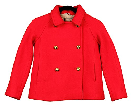 J Crew Crewcuts Girls' Short Peacoat Red Size 10 by Crewcuts