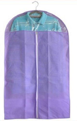 Price comparison product image HotEnergy Dust-proof Clothes Cover Suit Dress Garment Bag Non-Woven 60110cm--B (purple)