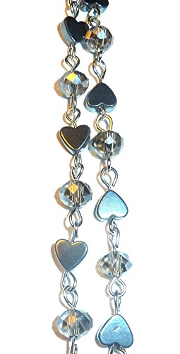 Stainless Steel or Iron Chain Lanyard and badge holder 34 inches, Magnetic Breakaway clasp or Non Breakaway options available (Hematite Chain - Magnetic Breakaway) Photo #4
