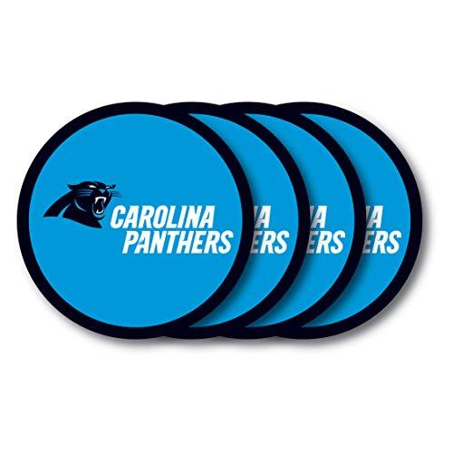 NFL Carolina Panthers Vinyl Coaster Set (Pack of 4)