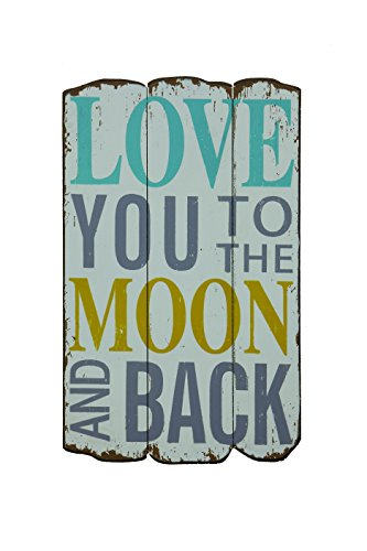 Creative Wood Love Moon Plaque