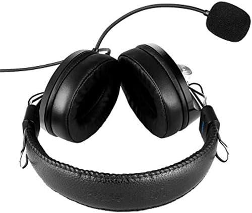 HNSYDS ヘッドセットコンピュータヘッドセットブラック簡単なゲームのヘッドセットヘッドマウント調整時に快適に着用します ゲーミングヘッドセット