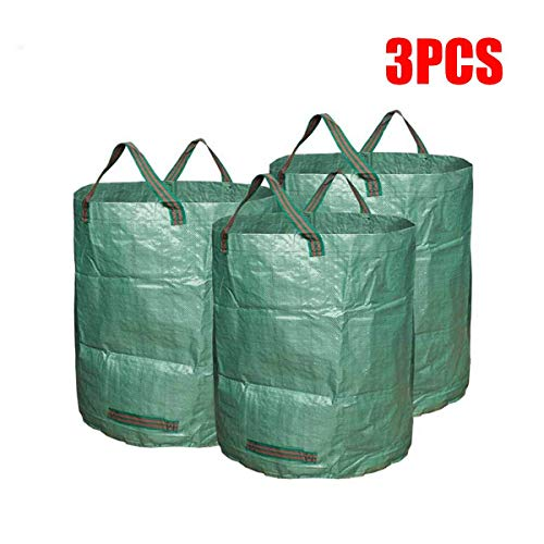 AloPW Yard Waste Bags 3 Packs Garden Waste Bags 72 Gallons Branch Leaves Collecting Housekeeping Storage Baskets