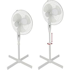 Standventilator mit 3 Stufen höhenverstellbar oszillierend Ventilator Lüfter
