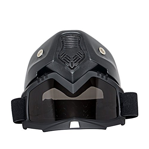 Triclicks Modular Motorcycle Riding Helmet Open Face Mask Shield Goggles Detachable by Triclicks (Image #3)