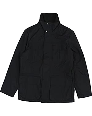 Men's Solid Parka Jacket