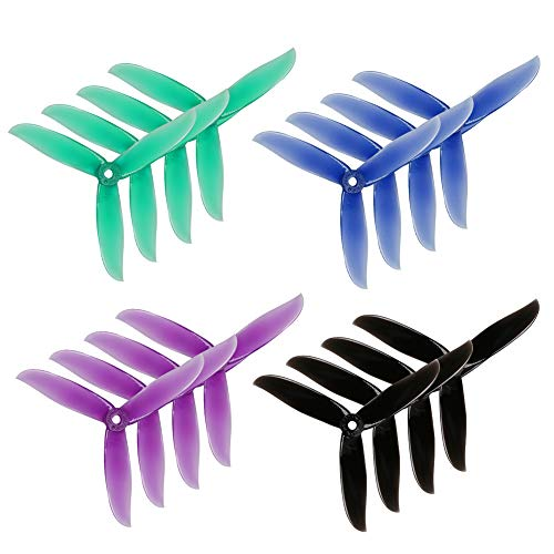 (16pcs DALPROP Cyclone T5047C Triblade Propeller 5 Inch Props for FPV Racing Drone Quadcopter)