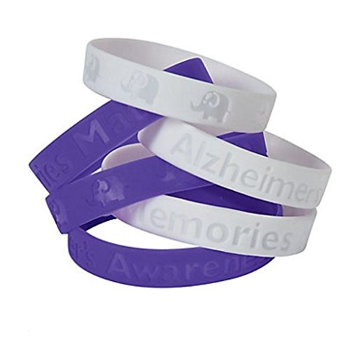 25 Silicone Alzheimer's Awareness Bracelets Show Your Support
