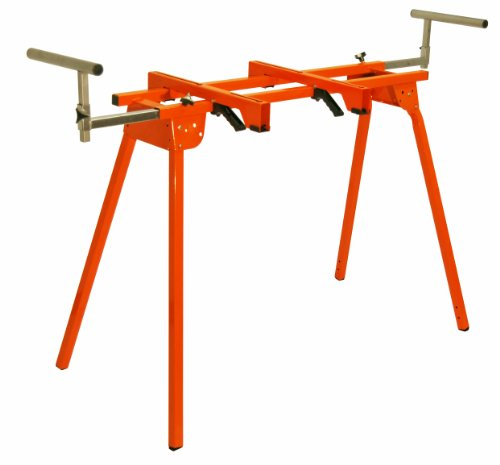 "Folding Miter Saw Stand PM-4000 Portamate – Heavy Duty 36"" Work Height Miter Saw Stand with Quick Attach Mount, 13"" Support T's and 500 lb. Capacity by HTC"
