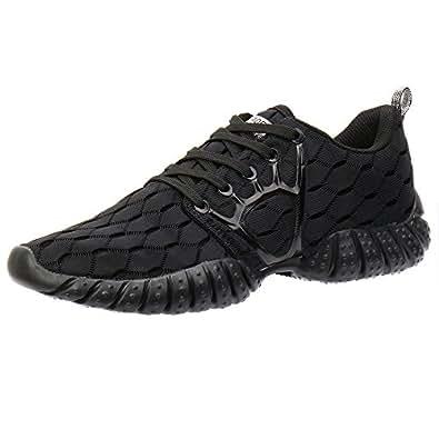 ALEADER Men's Mesh Cross-Traning Running Shoes CarbonBlack 8 D(M) US