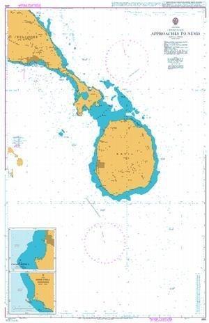 Ba Diagramm 489  nähert bis Nevis von UNITED KINGDOM Hydrographic Büro