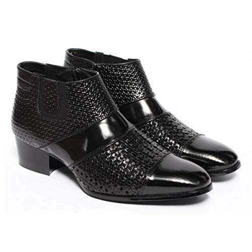 EpicStep Men's Genuine Leather Dress Formal Perforated Breathable Chelsea Ankle Boots 10 M ()