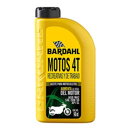 Bardahl Aceite Sintetico para Motos 4T 10W-40 SN 946 ML