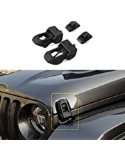 2018 for Jeep Wrangler JL Original Black Stainless Steel Latch Locking Hood Catch Kit for Jeep Wrangler 2007-2018 JK JL