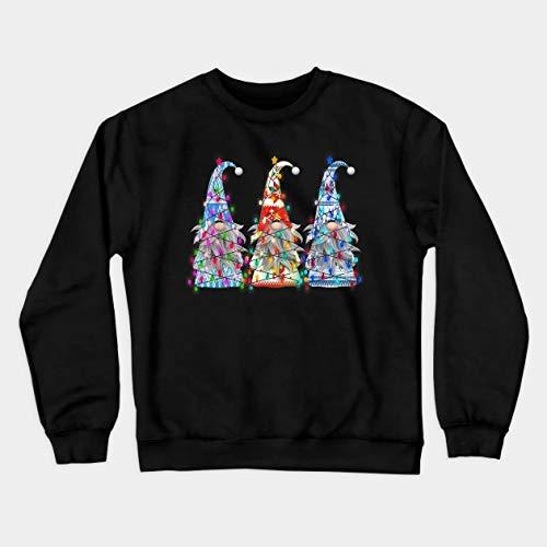 Womens Crewneck Sweatshirt Christmas Gnome Womens Casual Long Sleeve Round Neck T Shirts Blouses Sweatshirts