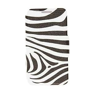 Patrón de Kinston Zebra PU Leather Case cuerpo completo con soporte para Nokia Lumia 520