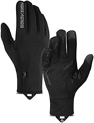 levliong Winter Warm Gloves Waterproof Windproof with Touchscreen Function Cycling Gloves for Men Women Non-Slip Full Finger Thermal Winter Gloves: Amazon.es: Deportes y aire libre