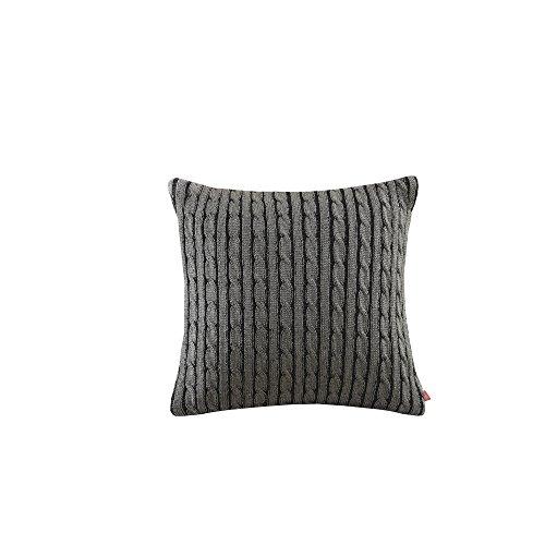 Woolrich 26 by 26-Inch Williamsport Sham, Euro, Black/Grey (Bedding Plaid Christmas)