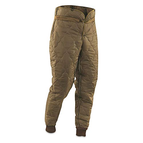 Surplus Czech Military Thermal Pant Liners, 2 Pack, New, Olive Drab, Small