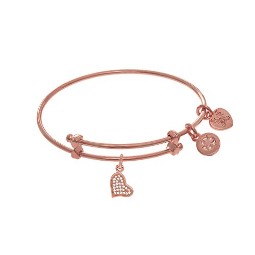 Angelica Heart Charm Expandable Tween Bangle Bracelet -  Angelica Collection