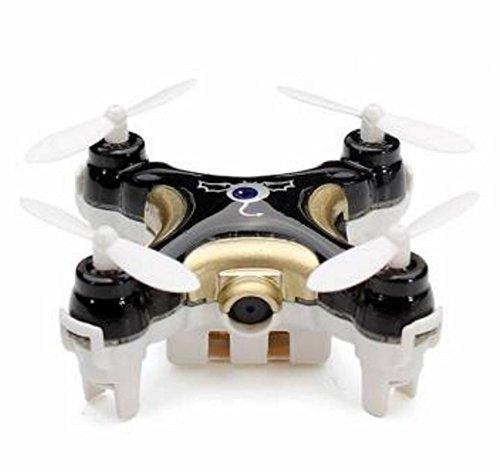 Inguity Cheerson CX-10C (Black) Worlds Smallest Camera Drone With Free 2GB Micro SD Card & Inguity Lanyard- Nano Mini Pocket Stunt Flip Drone US Customer Service 30 Day Warranty Guarantee