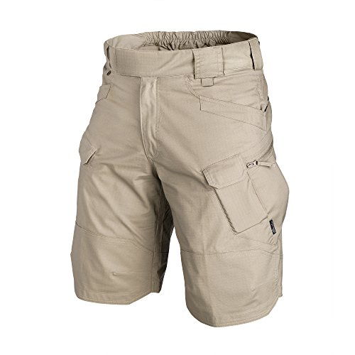 (Helikon-Tex OTK Shorts Khaki VersaStretch Lite Waist 32 Length 11, Outback Line Outdoor Tactical Shorts)