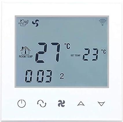 Beok TDS21WIFI-AC2-WW - Bobina de ventilador termostato con pantalla táctil para control