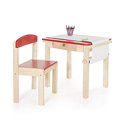Guidecraft Art Table And Chair Set - Red: Amazon.ca: Home & Kitchen